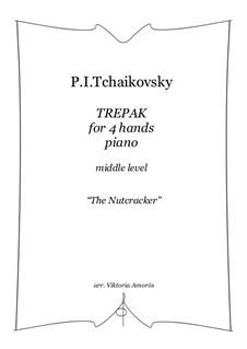 No.4 Russian Dance (Trepak): For piano 4 hands by Pyotr Tchaikovsky