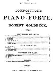Quatre Petits Morceaux: Cradle Song by Robert Goldbeck