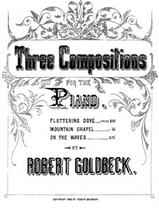 Three Compositions for Piano: Fluttering Dove by Robert Goldbeck