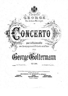 Cello Concerto No.6 in D Major, Op.100: Version for cello and piano by Georg Goltermann