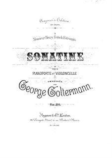 Sonatina for Cello and Piano, Op.114: Score by Georg Goltermann