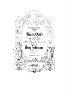 Modern Suite for Cello and Piano, Op.126: Score by Georg Goltermann