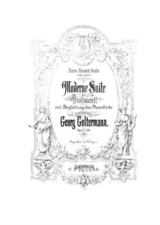 Modern Suite for Cello and Piano, Op.126: Solo part by Georg Goltermann