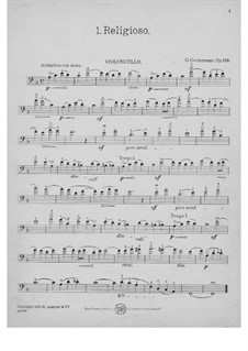 Six Easy Tone-Pictures for Cello and Piano, Op.129: Solo part by Georg Goltermann