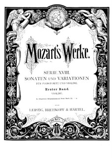 Sonata for Violin and Piano No.1 in C Major, K.6: Solo part by Wolfgang Amadeus Mozart