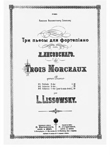 Trois Morceaux No.3 Scherzo Piano Right Hand Alone: Trois Morceaux No.3 Scherzo Piano Right Hand Alone by Leonid Lisovsky