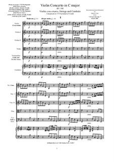 10 Concertos for Violin, Strings and Cembalo, Op.7: Concerto No.2, RV 188 by Antonio Vivaldi