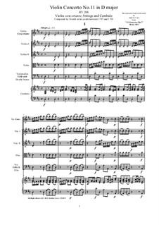 10 Concertos for Violin, Strings and Cembalo, Op.7: Concerto No.11, RV 208 by Antonio Vivaldi