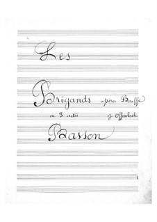 Les brigands (The Bandits): Bassoon part by Jacques Offenbach