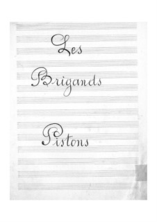 Les brigands (The Bandits): Cornets part by Jacques Offenbach
