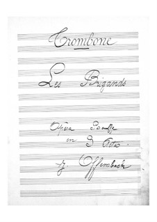 Les brigands (The Bandits): Trombones part by Jacques Offenbach