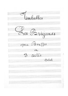Les brigands (The Bandits): Timpani part by Jacques Offenbach