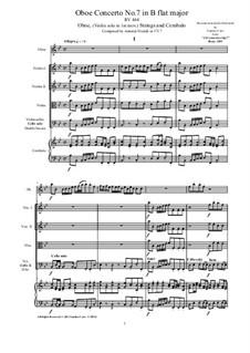 10 Concertos for Violin, Strings and Cembalo, Op.7: Concerto No.7, RV 464 by Antonio Vivaldi
