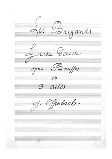 Les brigands (The Bandits): Bass drum part by Jacques Offenbach