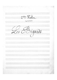 Les brigands (The Bandits): Violins II part by Jacques Offenbach
