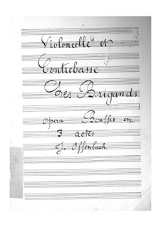 Les brigands (The Bandits): Cellos and double bass part by Jacques Offenbach