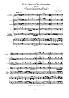 10 Concertos for Violin, Strings and Cembalo, Op.7: Concerto No.4, RV 294 by Antonio Vivaldi