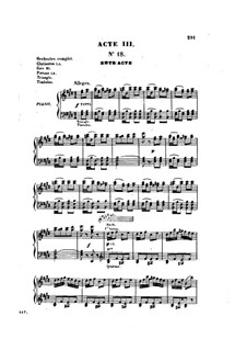 Les brigands (The Bandits): Act III, for voices and piano by Jacques Offenbach