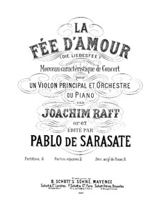 La fée d'amour for Violin and Piano, Op.67: Score by Joseph Joachim Raff