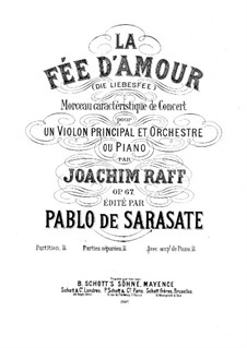 La fée d'amour for Violin and Piano, Op.67: Solo part by Joseph Joachim Raff