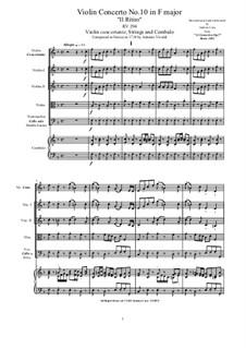 10 Concertos for Violin, Strings and Cembalo, Op.7: Concerto No.10, RV 373 by Antonio Vivaldi