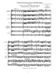 10 Concertos for Violin, Strings and Cembalo, Op.7: Concerto No.6, RV 374 by Antonio Vivaldi