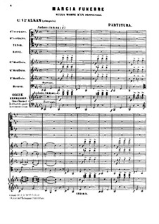 Marche funèbre (Funeral March) for Piano, Op.26: For a single performer by Charles-Valentin Alkan
