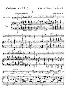 Violin Concerto No.3 in D Minor, Op.58: Version for vilon and piano by Max Bruch