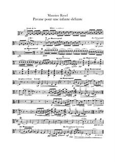 Pavane pour une infante défunte (Pavane for a Dead Princess), M.19: For orchestra – viola part by Maurice Ravel