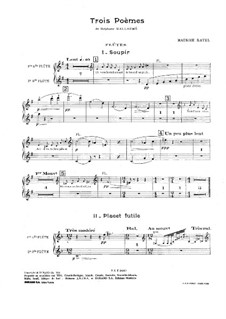 Three Poems of Stéphane Mallarmé, M.64: Orchestral parts by Maurice Ravel