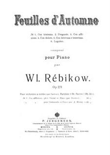 Autumn Leaves: Score for string orchestra by Vladimir Ivanovich Rebikov