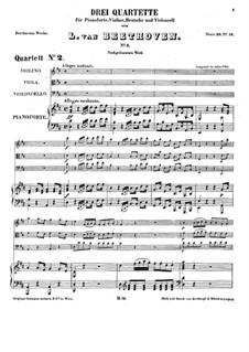 Three Piano Quartets, WoO 36: Quartet No.2 in D Major by Ludwig van Beethoven