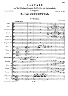 Cantata on the Accession of Emperor Leopold II, WoO 88: Cantata on the Accession of Emperor Leopold II by Ludwig van Beethoven