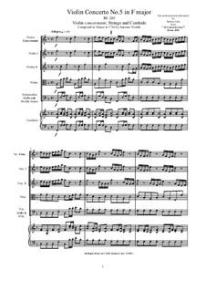 10 Concertos for Violin, Strings and Cembalo, Op.7: Concerto No.5, RV 354 by Antonio Vivaldi