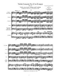 10 Concertos for Violin, Strings and Cembalo, Op.7: Concerto No.12, RV 214 by Antonio Vivaldi