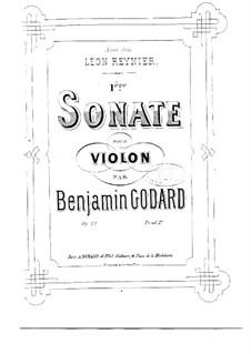 Sonata for Violin No.1, Op.20: Sonata for Violin No.1 by Benjamin Godard