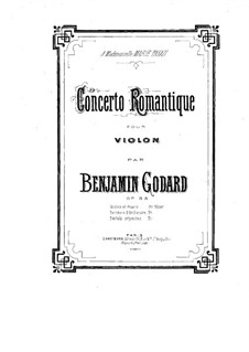 Concerto Romantique for Violin and Orchestra, Op.35: For violin and piano – score by Benjamin Godard
