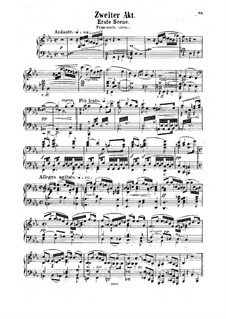 Francesca da Rimini: Act II – Piano-vocal score by Hermann Goetz