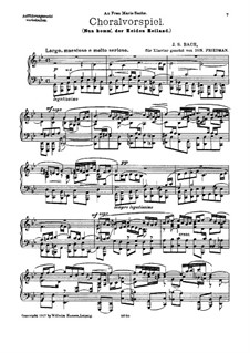 Chorale Preludes III (The Great Eighteen): Nun komm', der Heiden Heiland, BWV 659 by Johann Sebastian Bach