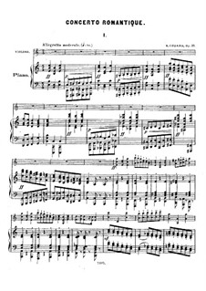 Concerto Romantique for Violin and Orchestra, Op.35: For violin and piano by Benjamin Godard