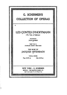Complete Opera: Act I. Arrangement for voices and piano by Jacques Offenbach