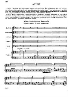 Complete Opera: Act III. Arrangement for voices and piano by Jacques Offenbach
