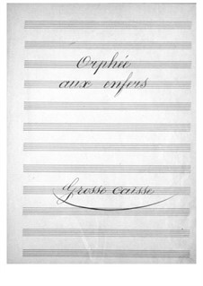 Complete Opera: Bass drum part by Jacques Offenbach
