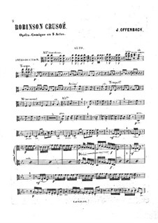 Robinson Crusoé: Violas part by Jacques Offenbach
