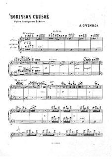 Robinson Crusoé: Flutes part by Jacques Offenbach