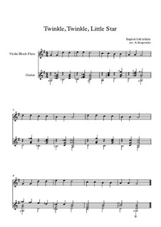 Twinkle, Twinkle Little Star: For two instruments by folklore