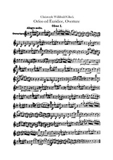 Overture: Oboes parts by Christoph Willibald Gluck