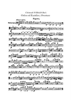 Overture: Bassoon part by Christoph Willibald Gluck