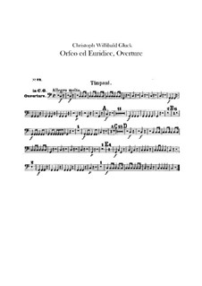 Overture: Timpani part by Christoph Willibald Gluck