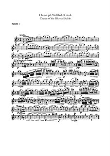 Dance of the Blessed Spirits: Flutes parts by Christoph Willibald Gluck